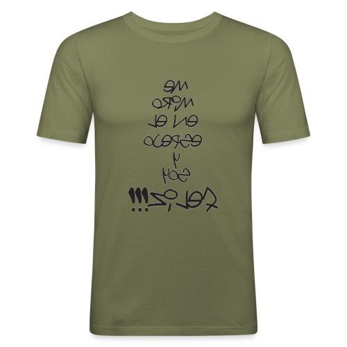 Para el Espejo:ME MIRO Y SOY FELIZ - Camiseta ajustada hombre