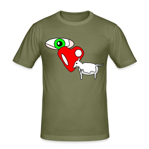 Eye luv Ewe - Men's Slim Fit T-Shirt