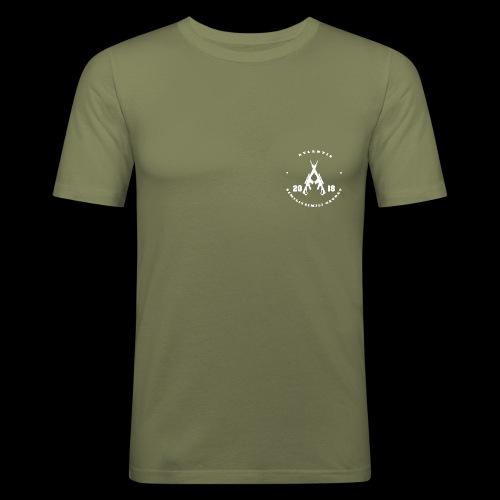 Atlantis weiss vorn - Männer Slim Fit T-Shirt