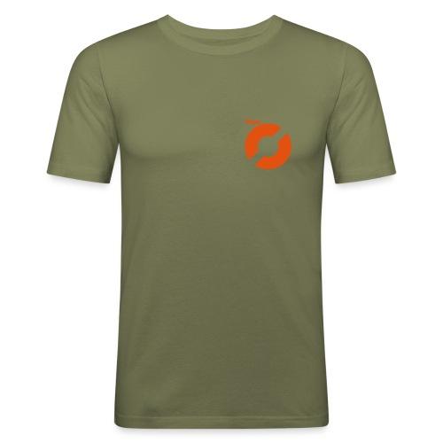 Oransje logo - Slim Fit T-skjorte for menn