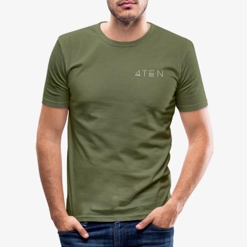 4TEN Classic White - Men's Slim Fit T-Shirt