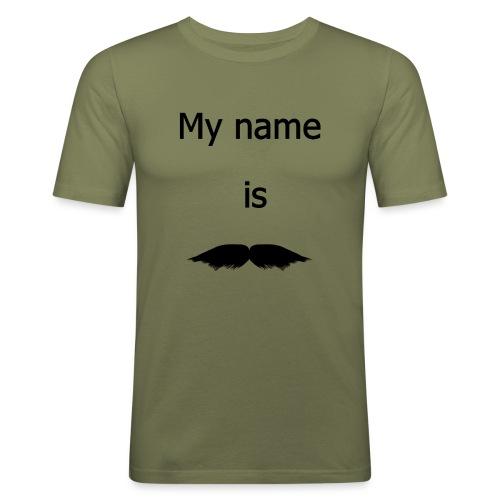 moustache - T-shirt près du corps Homme