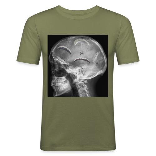 Paragliding im Kopf - Männer Slim Fit T-Shirt
