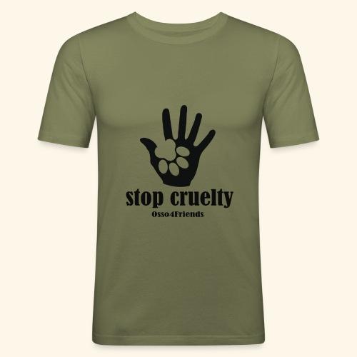 STOP CRUELTY - Maglietta aderente da uomo