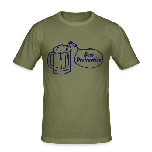 Beer Destruction - Männer Slim Fit T-Shirt