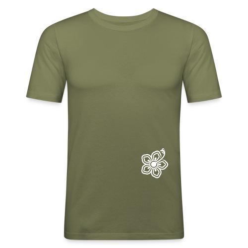 CHABA Flower white - Männer Slim Fit T-Shirt
