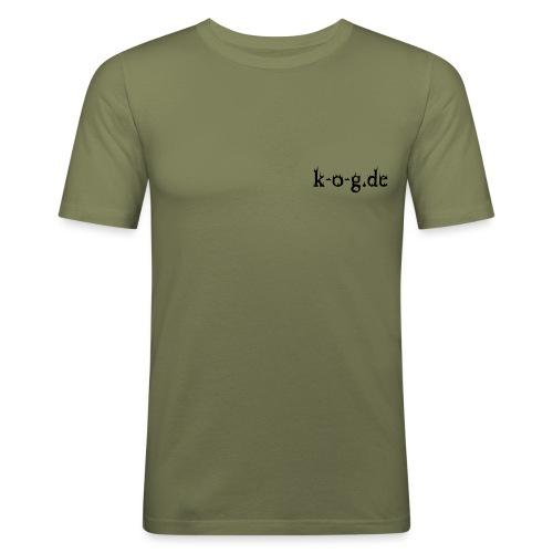 kog fuer schwarz - Männer Slim Fit T-Shirt