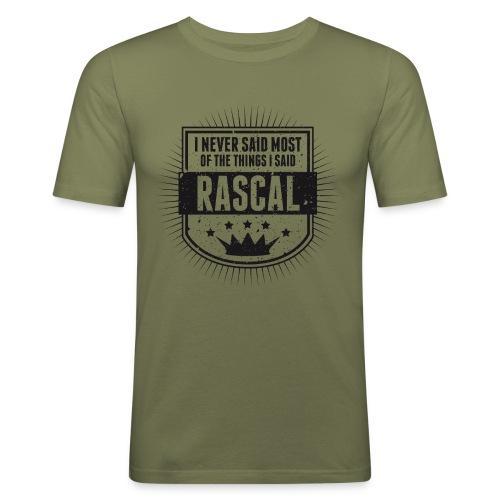 Vintage RASCAL quotes - Never said - Men's Slim Fit T-Shirt