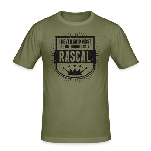 Vintage RASCAL quotes - Never said - Men's Slim Fit T-Shirt