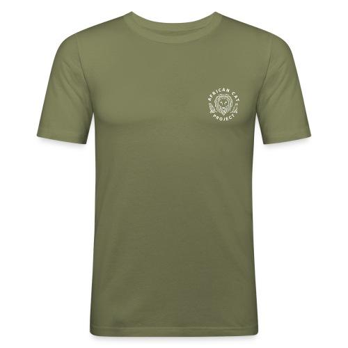 1878165 1012609392 logo ACP WHITE png png - Men's Slim Fit T-Shirt