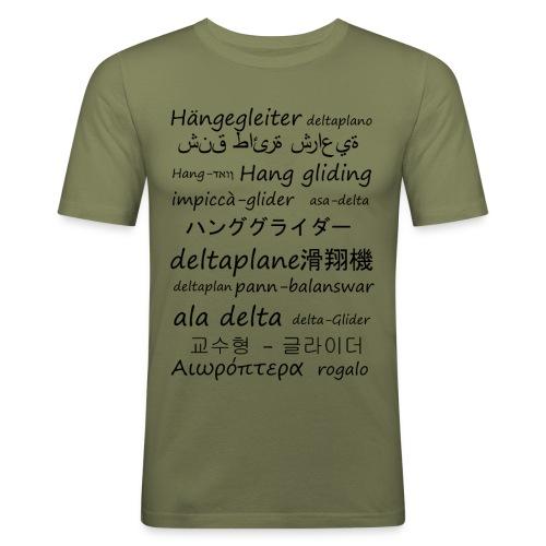 deltaplane en plusieurs langues - T-shirt près du corps Homme