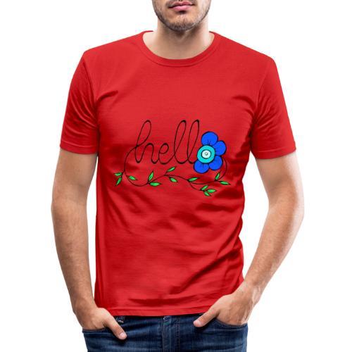 Hello Blume. - Männer Slim Fit T-Shirt