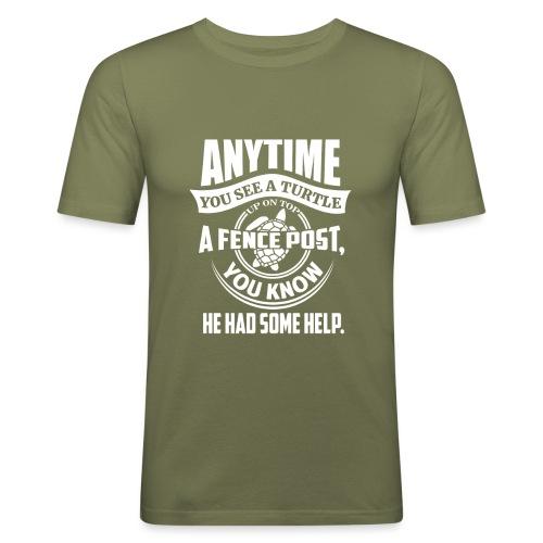 Turtle - Slim Fit T-skjorte for menn