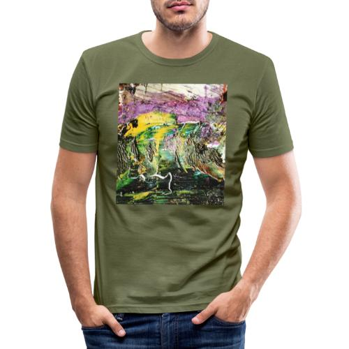 Abstract close up 2 - Men's Slim Fit T-Shirt