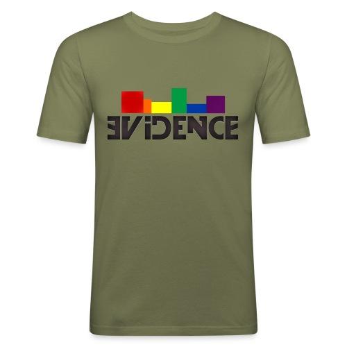 NEW EVIDENCE RAINBOW blk - T-shirt près du corps Homme
