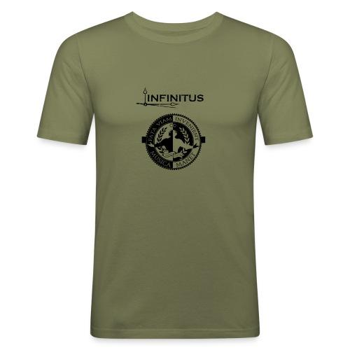 Infinitus stamp schwarz png - Männer Slim Fit T-Shirt