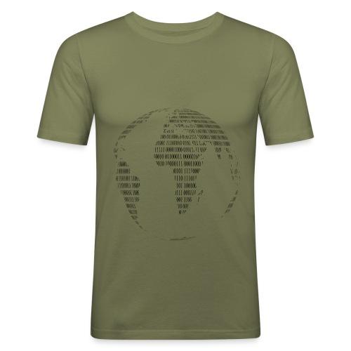 binary 1254501 png - Männer Slim Fit T-Shirt