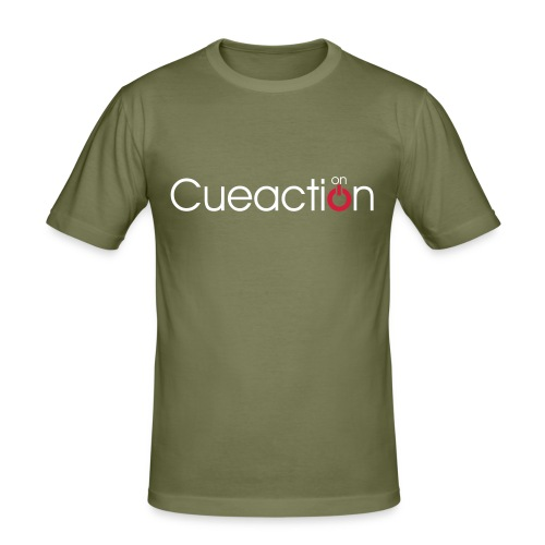 cueaction snooker - Männer Slim Fit T-Shirt