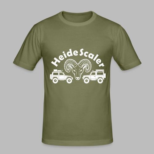 Heide Scaler white HQ - Männer Slim Fit T-Shirt