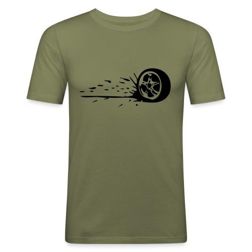 Dirty Wheel - Männer Slim Fit T-Shirt