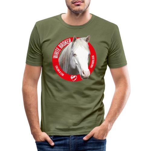 WHITE BROKER - Maglietta aderente da uomo