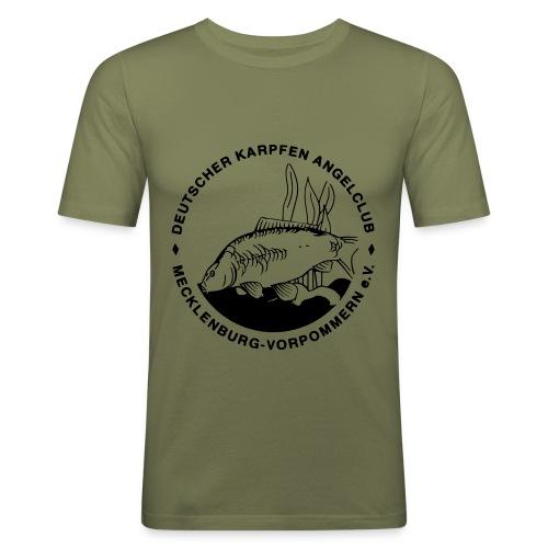 dkac-logo klein - Männer Slim Fit T-Shirt