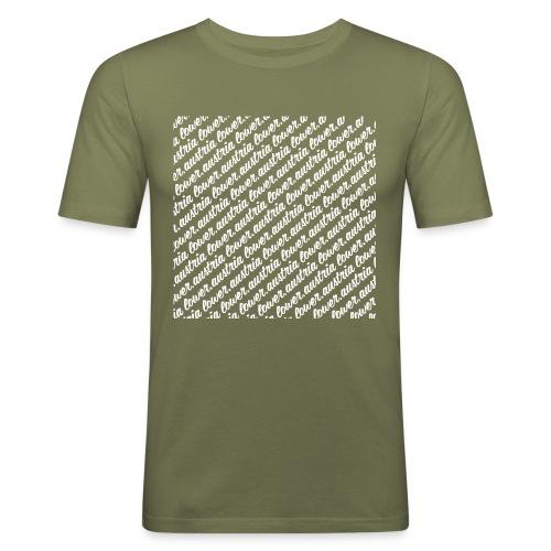 lowA schrift schräg weiss - Männer Slim Fit T-Shirt