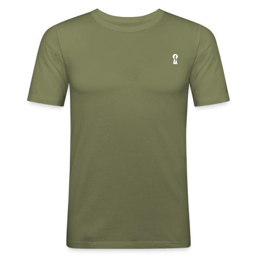 logo bianco png - Maglietta aderente da uomo