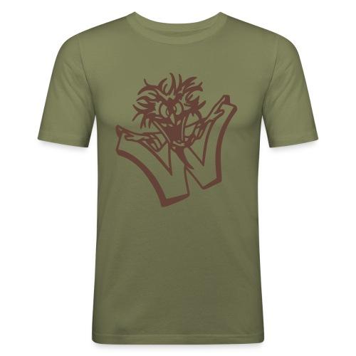 Wahnsinn Logo - Mannen slim fit T-shirt