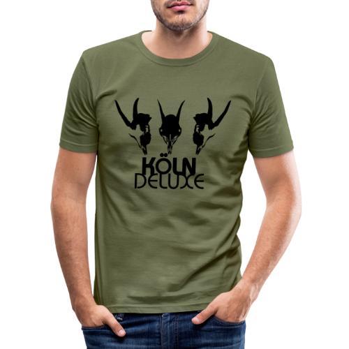Geissbock Deluxe Motiv groß - Männer Slim Fit T-Shirt