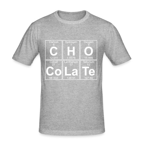 C-H-O-Co-La-Te (chocolate) - Full - Men's Slim Fit T-Shirt