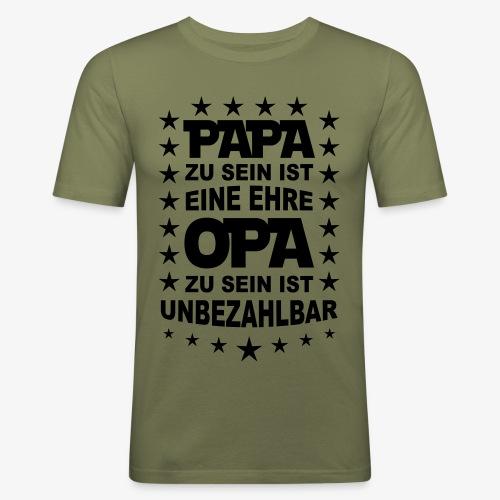 46 Papa zu sein ist eine Ehre OPA unbezahlbar - Männer Slim Fit T-Shirt