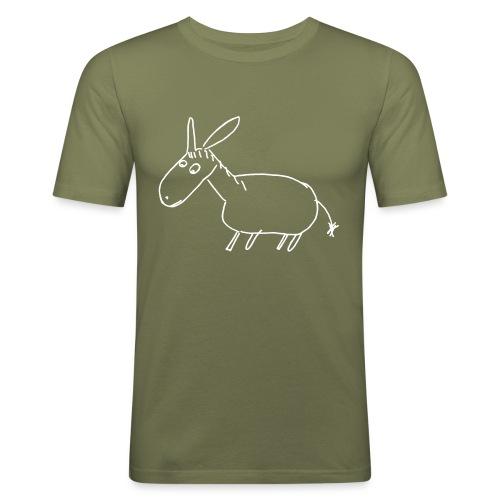7000 ESEL S outline - Männer Slim Fit T-Shirt