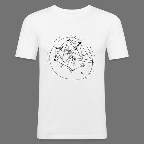 SEO strategia No.1 (musta) - Miesten tyköistuva t-paita