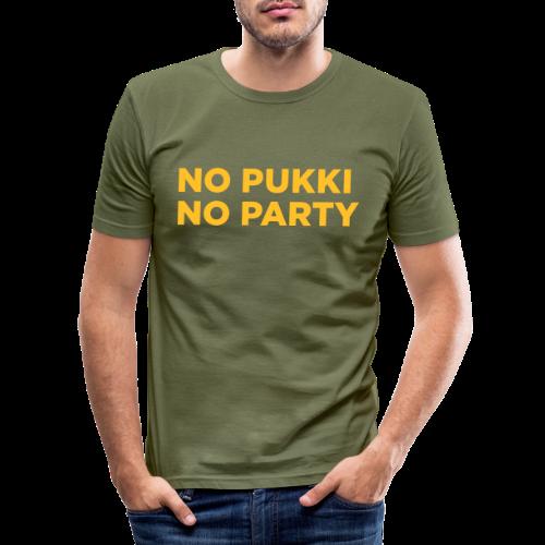 No Pukki, no party - Miesten tyköistuva t-paita