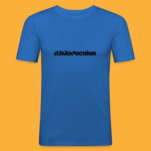 DJATODOCOLOR LOGO NEGRO - Camiseta ajustada hombre