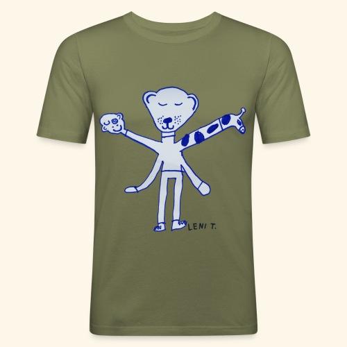 LeniT Teddy With a Twist - Miesten tyköistuva t-paita