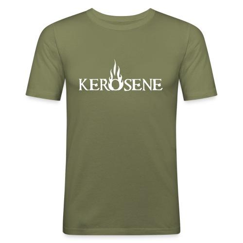 logo kerosene - Männer Slim Fit T-Shirt