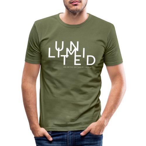 Unlimited white - Men's Slim Fit T-Shirt