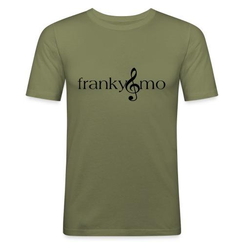 franky und mo no font - Männer Slim Fit T-Shirt