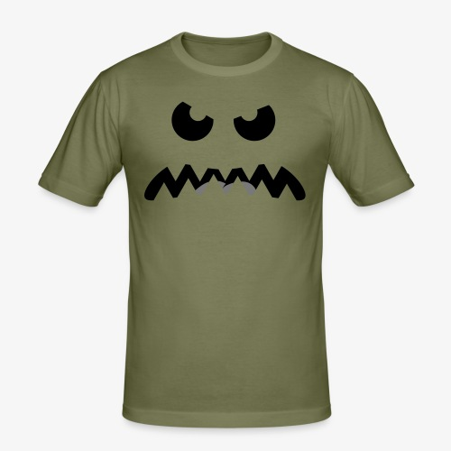 Angry Critter 2 colors - Men's Slim Fit T-Shirt