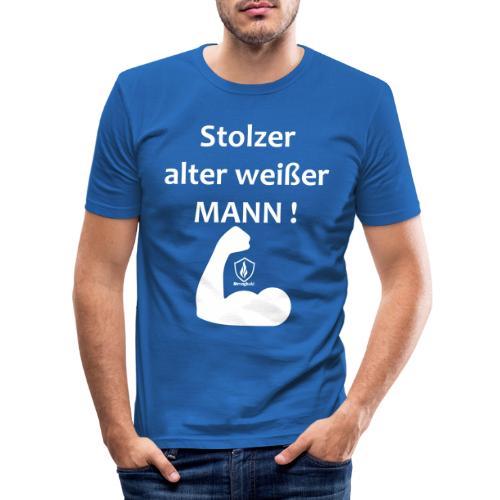 Stolzer alter weißer Mann - Männer Slim Fit T-Shirt