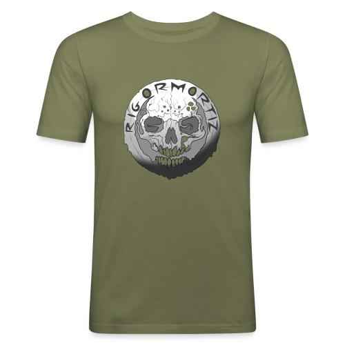Rigormortiz Black and White Design - Men's Slim Fit T-Shirt