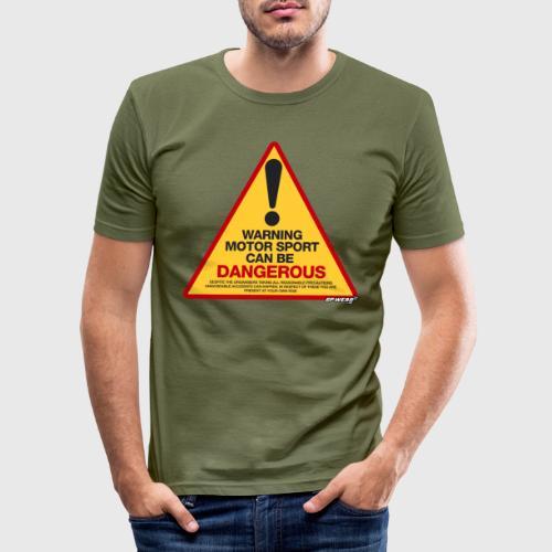Motorsport can be DANGEROUS - Obcisła koszulka męska