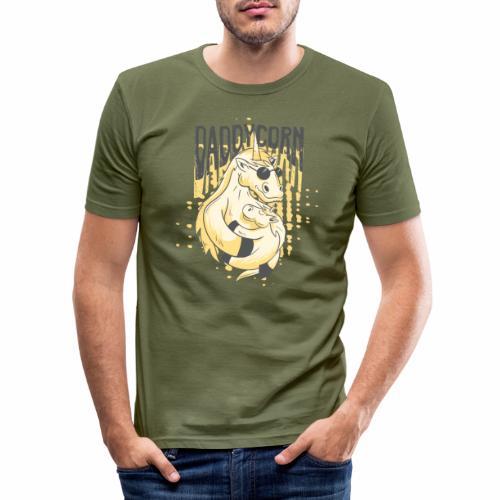 Daddycorn - Einhörner für echte Papas - Männer Slim Fit T-Shirt
