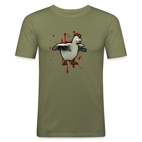 chickenlargeblood - Men's Slim Fit T-Shirt