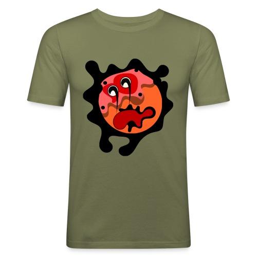 scary cartoon - Mannen slim fit T-shirt