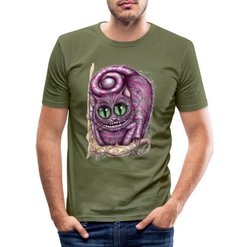 Stregatto Art 3 - Maglietta aderente da uomo