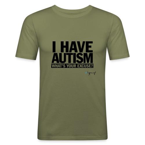I have autism... (black) - Obcisła koszulka męska