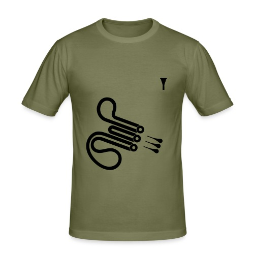 Horn - Männer Slim Fit T-Shirt
